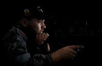 Private Chantelle Mooney of Combined Task Force 635 gives the class a thumbs up after she ran an impromptu class for the students of the Gifu Primary School in the Solomon Islands.