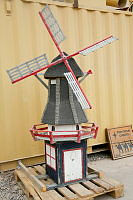 The miniature windmill from the former Dutch recreation facility at the Multi National Base-Tarin Kot, being prepared to be shipped to Australia.
