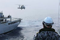 Australian Seahawk Helicopter used during the Replenishment at Sea (RAS).