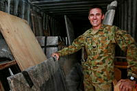 Sergeant Adam Caspani and his team from the Force Support Unit in Tarin Kot are responsible for coordinating the removal of historical artefacts from Multi National Base-Tarin Kot to the Al Minhad Airbase before they are sent back to Australia.