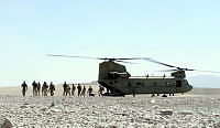 Special Operations Task Group soldiers and their partners from the Provincial Response Company - Uruzgan (PRC-U) arrive back at Multi National Base - Tarin Kot after conducting a PRC-U led security operation in Uruzgan Province, Southern Afghanistan.