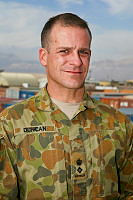 Lieutenant Colonel Paul Duncan from Combined Team Uruzgan is the senior adviser with the Operational Coordination Centre - Provincial at Multi National Base - Tarin Kot.