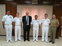 Commander Combined Task Force 150, Commodore Daryl Bates and Director General Maritime Security Agency, Rear Admiral Athar Mukhtar discuss maritime security operations