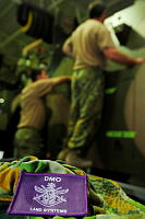 Defence Materiel Organisation patch - upgrades being carried out in the back ground at Al Minhad Air Base, UAE.