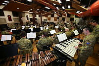Australian Army Band musicians rehearse at the Royal Military College – Duntroon prior to departing for the 2014 Basel International Tattoo, Switzerland, from July 14-26.