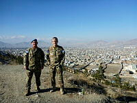 Squadron Leader Robert Saunders (left) and Brigadier Bill Date overlook Kabul during their deployments to Operation Palate II.