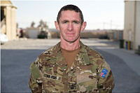 Australian Army Warrant Officer Class Two Eddie Walsh at Camp Baker, Kandahar Airfield, Afghanistan. WO2 Walsh was the Company Sergeant Major of Force Protection Element-2.