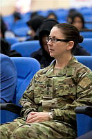 Australian Army Officer Colonel Amanda Fielding, Senior Gender Advisor for Resolute Support Mission attends a conference at the International Police Training Academy in Sivas, Turkey.