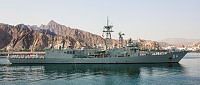 HMAS Darwin sails into Muscat, Oman, on the 14th of March, 2016, during her deployment to the Middle East region on Operation Manitou. Operation Manitou is the Australian Defence Force's contribution to support international efforts in promoting maritime security, stability and prosperity in the Middle East region.