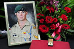 Official Portrait of Corporal Cameron Baird, MG during the Repatriation Ceremony held at RAAF Base Richmond.