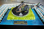 Cake of a MRH 90 Taipan Multi-Role Helicopter made for the commissioning of 808 Squadron, held at HMAS Albatross.
