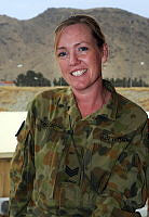 Sergeant Leanne Taylor of Upper Kedron, is the Finance Officer at Headquarters Joint Task Force 633 - Afghanistan