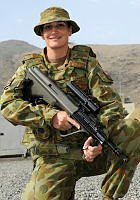 Major Emily Young, 35 from Adelaide.