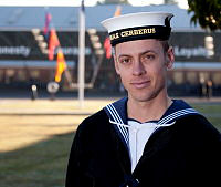 Najee Minuzzo of Ayr, who recently graduated from Navy Recruit School at HMAS Cerberus.