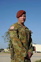 Warrant Officer Class 2 Des McCoy is an Australian Forces Security Sergeant deployed to North Camp in the Sinai as part of Operation Mazurka.
