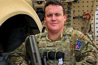 Captain Glenn Bourke, Second-in-Command for Australia's contribution to the Logistics Training Advisory Team based in Kabul Afghanistan.