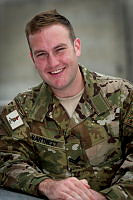 Australian Army Cargo Specialist, Corporal Michael Hartnett from Brisbane based 9th Force Support Battalion, deployed to Kabul, Afghanistan as a transport team leader with Force Support Unit 9.