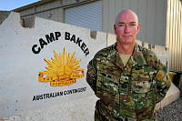 Warrant Officer Class One Wayne McMillan, Regimental Sergeant Major for Force Support Unit Nine (FSU-9), at Camp Baker in Kandahar, Afghanistan.
