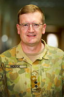 Lieutenant Colonel Jon Hodge inside the medical centre at Camp Baird, Australia's base at Al Minhad Air Base in the United Arab Emirates.