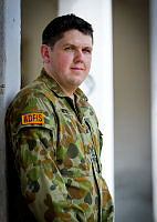 Australian Army Soldier, Corporal Joshua Mets a Military Police Investigator, posted to the Australian Defence Force Investigative Service (ADFIS), is on duty during Exercise Pacific Partnership 2014, in Dili, East Timor.