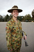 Australian Army Band Canberra Musician, Musician Natalie Dajski with her clarinet, which she will play during the Australian Army Band's tour of Switzerland to the Basel International Tattoo from July 14-26.