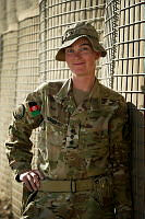 Captain Danielle Huggins is the Afghan National Army Officer Academy female platoon commander mentor based at Camp Qargha outside of Kabul, Afghanistan