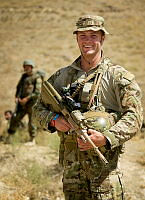 Australian Army officer Captain Cameron Bradfield is a mentor to Afghan National Army instructors at the Afghan National Army Officer Academy.