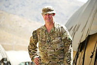 Australian Army Sergeant Rob Staley is a mentor for the ANA Officer Academy Signals Training Wing.