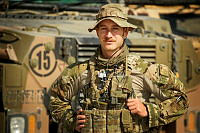 Australian Army Corporal Patrick Porter commands a section of Bushmaster Protected Mobility Vehicles based at Camp Qargha, Kabul.