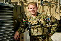 Australian Army Trooper Alex Fairfield is a Bushmaster driver with B Squadron, 3/4 Cavalry Regiment currently deployed to Kandahar Air Field, Afghanistan.