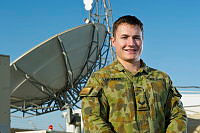 Royal Australian Air Force Signaller, Corporal Justin Roberts, is currently deployed on Operation Accordion supporting communications across the Middle East.