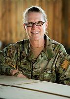 Chief of the ISAF Redeployment Fusion Cell, Lieutenant Colonel Michelle Ager is currently deployed to ISAF HQ in Kabul, Afghanistan.
