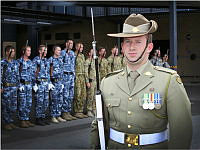 Australian Regular Army member, Gunner Joshua Knight of Australia's Federation Guard (AFG) poses for his photograph at AFG.