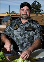 Able Seaman Maritime Logistics - Cook Daniel Hancock provides culinary support to a detachment of 13th Brigade soldiers as part of the Australian Defence Forces logistics effort assisting fire fighters combating the bushfires burning in the Northcliffe and Pemberton areas in Western Australia.