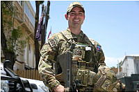 Royal Australian Navy Lieutenant Commander Alastair Walsh, a Mine Warfare Clearance Diving Officer, at NATO's Resolute Support Headquarters.