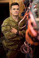 Communication Information Systems Troop Leader Lieutenant Iain McLeod is deployed to the Taji Military Complex, Iraq. The Communications Information Systems Task Unit runs communications across Task Group Taji and maintains contact with coalition forces in Iraq.