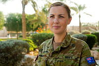 Royal Australian Navy sailor Able Seaman (AB) Communications Information Systems Kelsie Wright, from Tasmania, is a member of Combined Task Force 150 (CTF 150) based at the Naval Support Activity in Manama, Bahrain. AB Wright is a computer network manager.