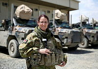 Australian Army Warrant Officer Class Two Megan White, works in Australia's busy Task Group Afghanistan headquarters as an administration clerk supervisor at Hamid Karzai International Airport in Kabul.
