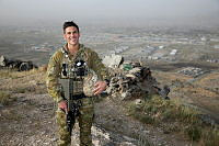 Australian Army Officer Major Cameron Elston is the deputy senior Australian representative and a mentor to the Afghan National Army Officer Academy's (ANAOA) administration team.