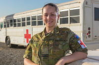 Officer In Charge of the Medical Detachment at Australia's main operating air base in the Middle East Region, Flight Lieutenant Gina Noble.