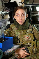 Australian Army soldier Private Saatchi Siri, from Task Group Taji 4, is seen in her element at Taji Military Complex, Iraq.