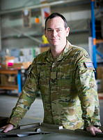Australian Army soldier Sergeant Matthew Collins, a Warehouse Supervisor with Force Support Element 5, is currently deployed on Operation Accordion at Australia's main Operating base in the Middle East region.