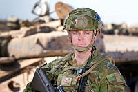Australian Army soldier Corporal Adam Dowling from Task Group Taji 4 at Taji Military Complex, Iraq.