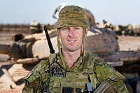 Australian Army soldier Lance Corporal Mitchel Bowan from Task Group Taji 4 at Taji Military Complex, Iraq.