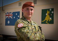 Australian Army soldier Lance Corporal James Harrison is deployed with the Australian contingent to the Multinational Force and Observers (MFO) mission in Sinai, Egypt. He is seen here at the Australian compound at MFO's South Camp near Sharm el Sheikh.