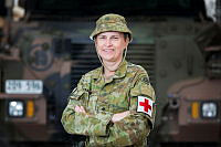 Australian Army officer Captain Emma Palmer from Task Group Taji 4 at Taji Military Complex, Iraq.