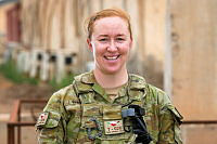 Australian Army soldier Sapper Bronwyn Camin from Task Group Taji 4 at Taji Military Complex, Iraq.