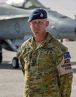 Leading Aircraftman Tavis Friedrichs from Combat Support Unit Rotation 16 Security Flight at the main Air Operating Base in the Middle East Region.
