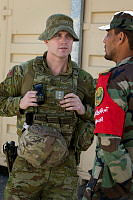 Australian Army officer Captain Lachlan Joseph is a mentoring Afghan Instructors at the Afghan National Army Officer Academy in Kabul.
