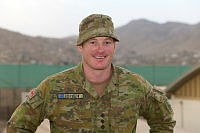 Australian Army officer Captain Tim Coulter at the Afghan National Army Officer Academy in Kabul, Afghanistan.